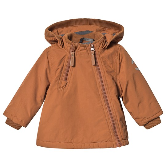 Mikk-Line Nylon Baby Jacket Leather Brown Leather Brown