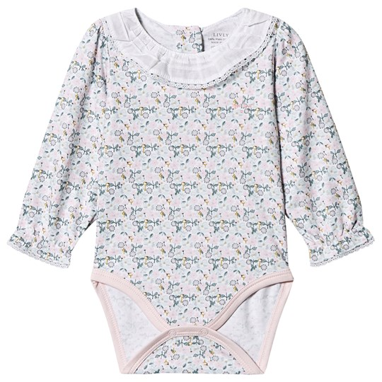 Livly Blomstret Mary Baby Body Pink Liberty Floral Mini