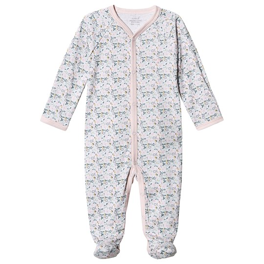Livly Floral Simplicity Footed Baby Body Pink Liberty Floral Mini