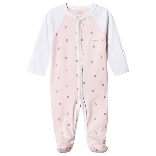 Livly Little Bunny Simplicity Footed Baby Body Pink Pink Mini Bunny