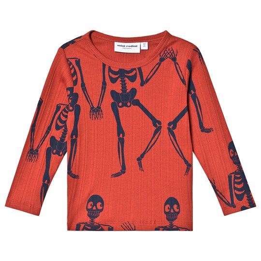 Mini Rodini Skeleton Long Sleeve Tee Red Red