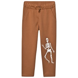 Mini Rodini Skeleton Joggingbukser Brun
