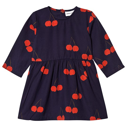 Mini Rodini Cherry Dress Blue Blue