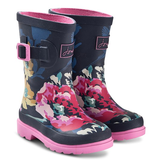 Tom Joule Anniversary Floral Rain Boots Navy ANNIVERSARY FLORAL