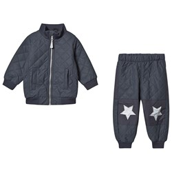 Mikk-Line Thermal Jacket and Pants Set Blue Nights