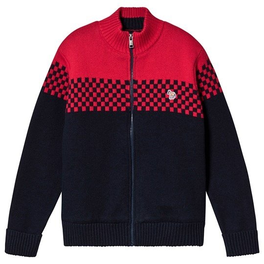 Paul Smith Junior Racing Stribet Zip Up Jakke Marineblå/Rød 492
