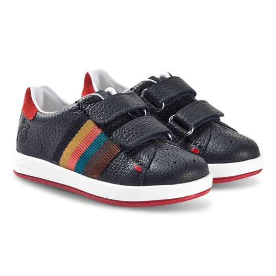 Paul Smith Junior Rabbit Multi Stripe Velcro Sneakers Navy 492