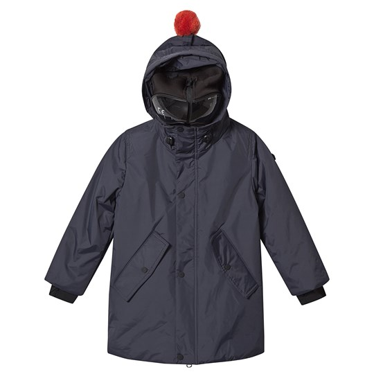 AI Riders on the Storm Navy Teddy Fleece Lined Goggle Hood Parka 20 NAVY