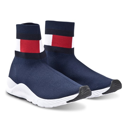 Tommy Hilfiger Knitted Sock Sneakers Navy 800