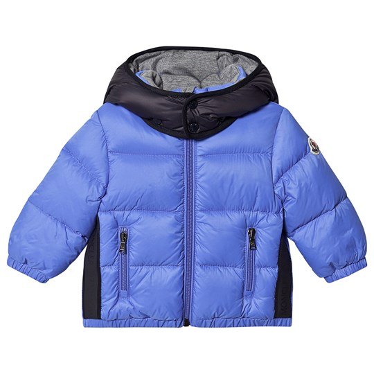 Moncler Hooded Down Jacket Blue/Black Perol 71E