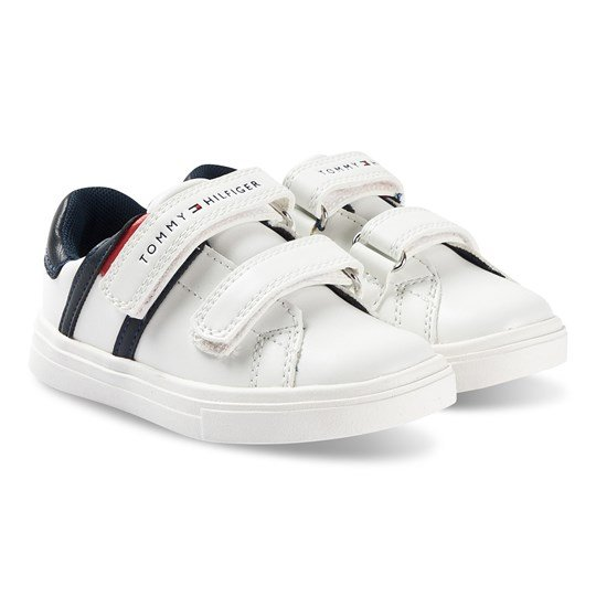 Tommy Hilfiger Low Cut Velcro Sneakers White 100