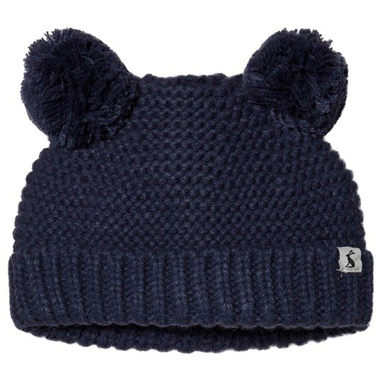 Tom Joule Pom Pom Knitted Infants Beanie Navy French Navy