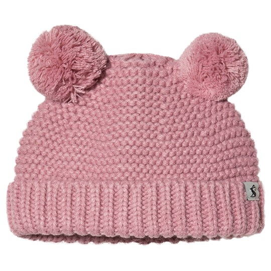Tom Joule Pom Pom Knitted Infants Beanie Pink CHERRY BLOSSOM