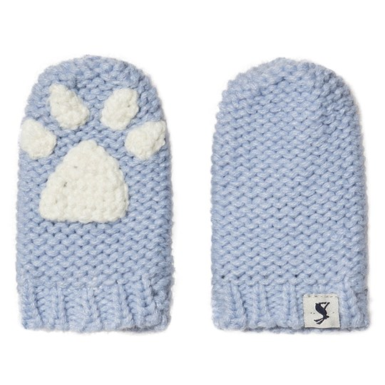 Tom Joule Paws Knitted Infants Mittens Ice Blue ICY BLUE