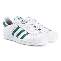 adidas Originals Superstar Sneakers White and Green