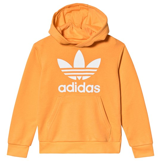 adidas Originals Yellow Trefoil Logo Hoodie REAL GOLD S18/white