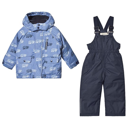 Hatley Band Of Bear Ski Set Blue Blue
