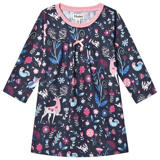 Hatley Nordic Forest Night Dress Navy Blue