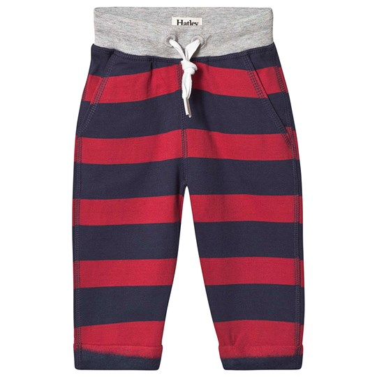 Hatley Stripe Sweatpants Red and Navy Blue