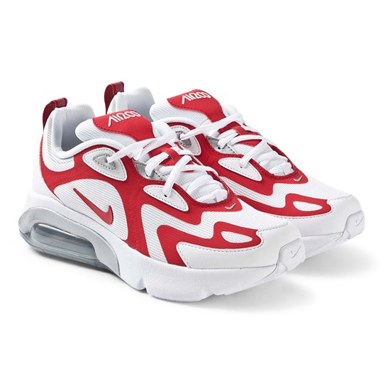 NIKE Air Max 200 Sneakers White and University Red 101