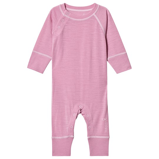 Isbjörn Of Sweden Husky Base Layer Baby bodysuit Dusty Pink Dusty Pink