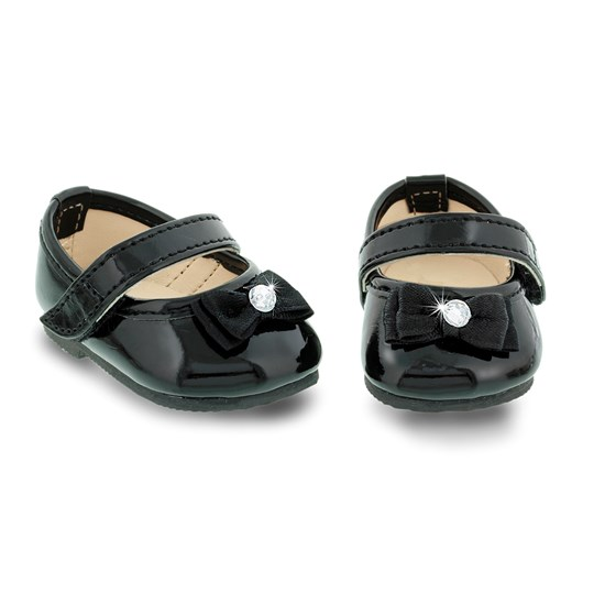 MissMiniMe Black Beauty Ballerina Doll Shoes Black