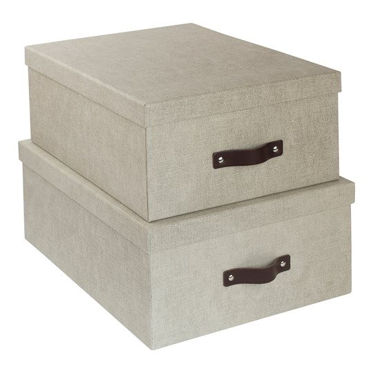 Bigso Box of Sweden 2-Pack Ulrika Nesting Storage Boxes Canvas Beige бежевый