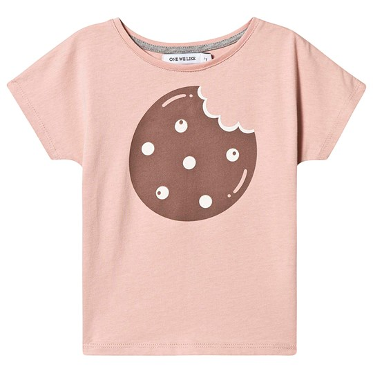 One We Like Cookie T-shirt Dusty Pink Dusty Pink