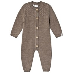 Little Jalo Knitted Baby Body Wood Brown