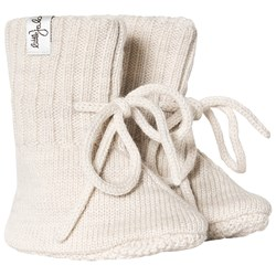 Little Jalo Knitted Booties Cream