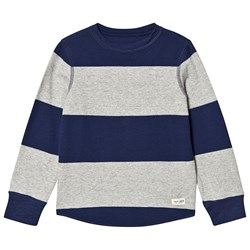 GAP Striped Sweater Navy and Grey