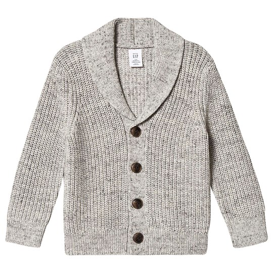 GAP Shawl Collar Cardigan Light Leather Grey Light Heather Grey