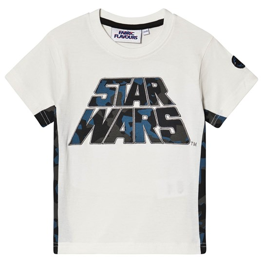 Fabric Flavours Star Wars Camo T-shirt Hvid off-white
