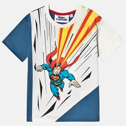 Fabric Flavours Superman Heat Vision T-skjorte Blå