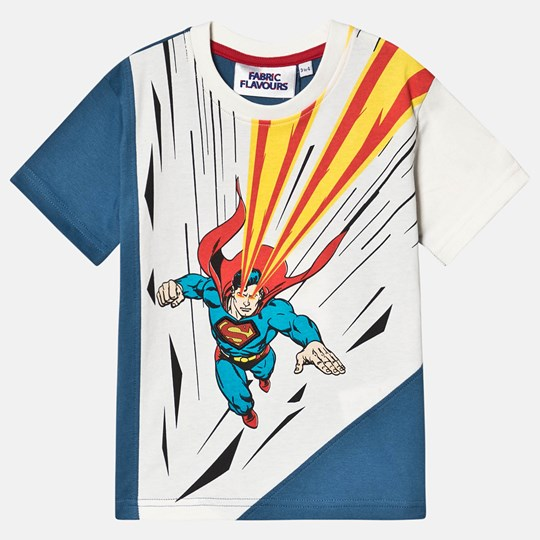 Fabric Flavours Superman Heat Vision Tee Blue Blue