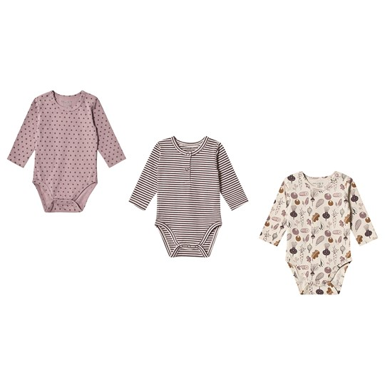 Hust&Claire 3-Pack Base Baby Body Lavender Lavender
