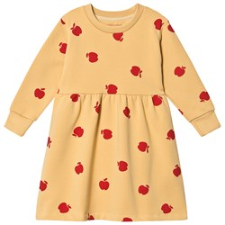 Tinycottons Apples Dress Sand/Burgundy