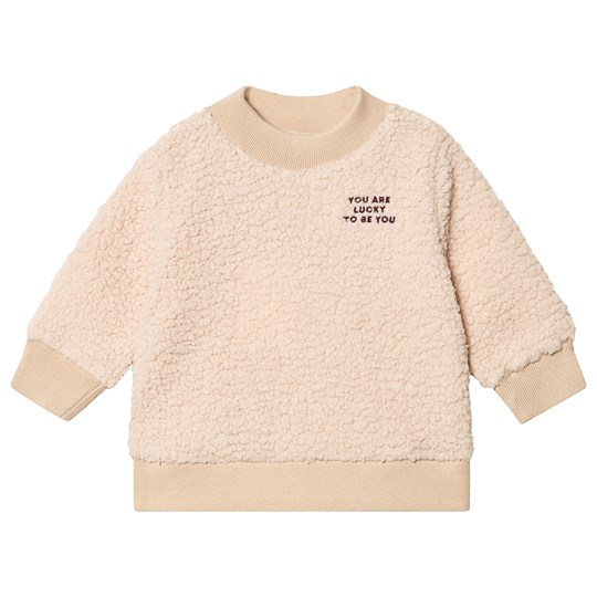 Tinycottons You Are Lucky Sweatshirt Sand and Aubergine Sand/Aubergine