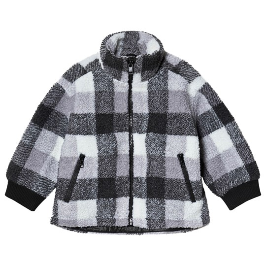 Stella McCartney Kids Rutig Teddy Fleece Jacka Grå 1268