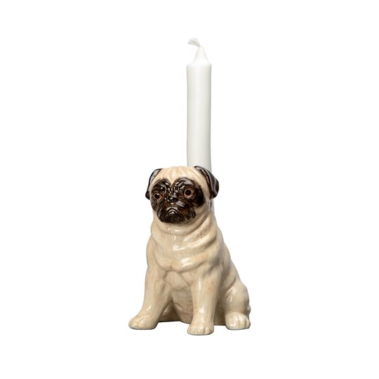 By On Pug Candle Holder Beige/brown
