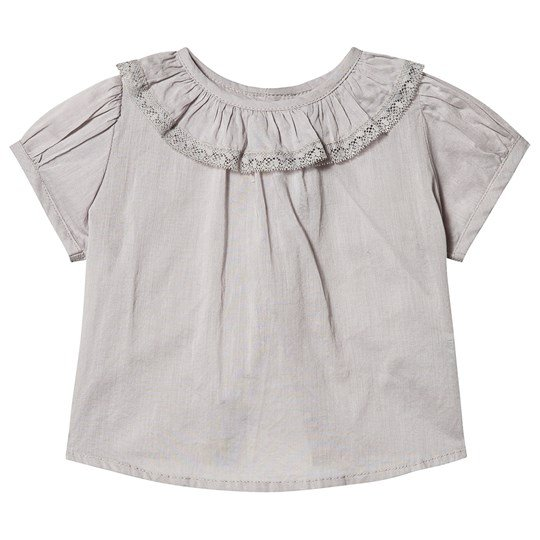 How To Kiss A Frog Suri Blouse Grey Black