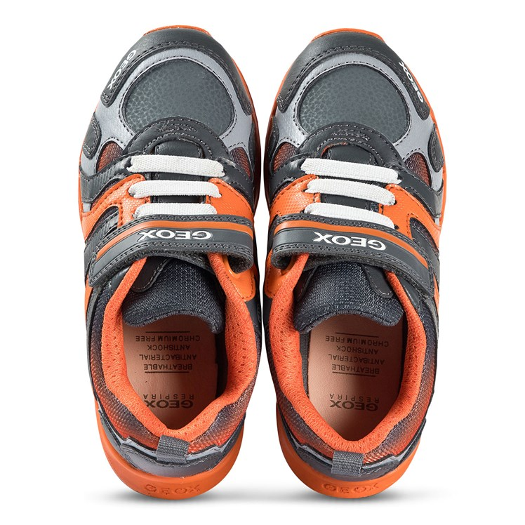 sale online pretty nice check out Geox - Dakin Sneakers Grey and Orange - Babyshop.no