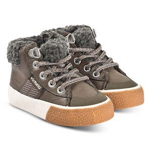 Image of Victoria Tribu Shearling Sneakers Anthracite 33 (UK 1) (1484241)