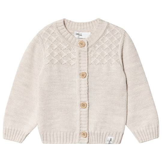 Little Jalo Knitted Baby Cardigan Cream