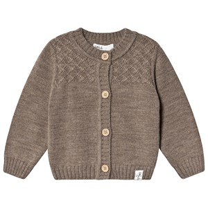 Image of Little Jalo Knitted Baby Cardigan Wood Brown 86 cm (1331148)