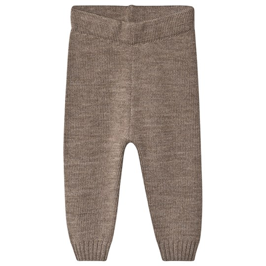 Little Jalo Knitted Baby Pants Wood Brown