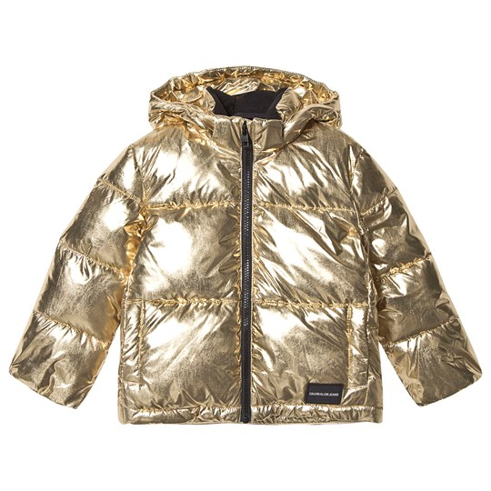Calvin Klein Jeans Gold Hooded Puffer Jacket 705