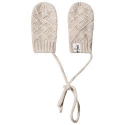 Little Jalo Knitted Baby Mittens Cream