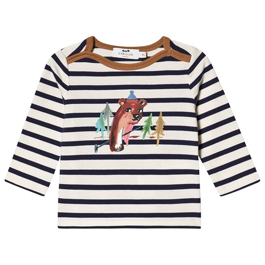 Cyrillus Stripe Doudi Forest Long Sleeved Tee Navy/White Marine