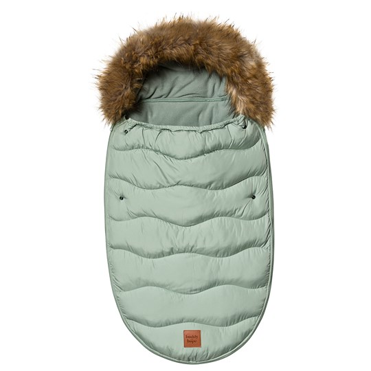 Buddy & Hope Faux Fur Footmuff Solid Green